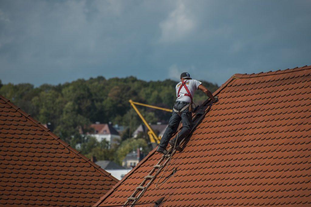 Ilustrasi Memanjat Atap Rumah